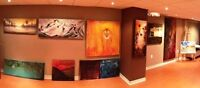 Remi's art studio  collection on display and for sale