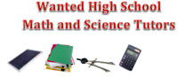 NEEDED IMMEDIATELY: Math and Science Tutors for K-12 Students
