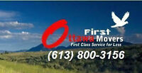 First Ottawa Movers. No Travel Time Promotion for 3 Days