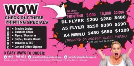 WOW... CHECK OUT THESE PRINTING SPECIALS