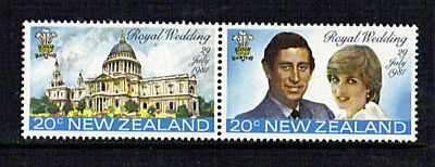 NEW ZEALAND 1981 ROYAL WEDDING SE TENANT COMMEMORATIVE STAMPS MNH
