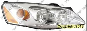 Head Light Passenger Side PONTIAC G6 2005-2010