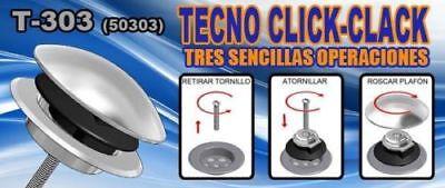 Tapón clic-clac para válvula de lavabo-bidet-bañera, válvula click-clack de baño