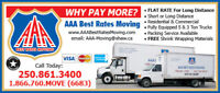 AAA Best Rates Moving - Kelowna Movers