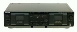 Sony Stereo double cassette deck with remote & manual like new