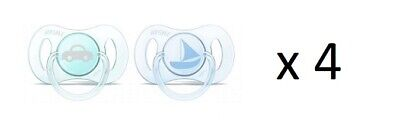 Philips Avent Newborn Pacifier 0-2m, 2 Ct (sailboat & car) SCF151/03 (4 Pack)