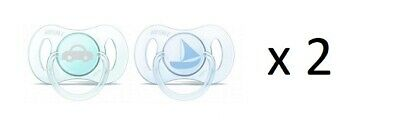 Philips Avent Newborn Pacifier 0-2m, 2 Ct (sailboat & car) SCF151/03 (2 Pack)