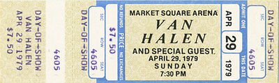 Van Halen Unused Concert Ticket - April 29, 1979 NEW (Day of Show)