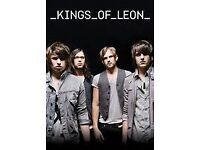 KINGS OF LEON TICKETS PLATINUM SEATS BLOCK 102 FRIDAY 9TH JUNE MANCHESTER