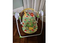 SOLD Mothercare Safari Musical Baby Bouncer / Chair £10