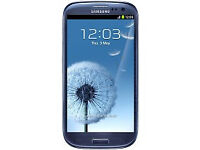 samsung galaxy s3 16 gig in pebble blue for sale or swap