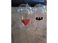 2 small plastic kids cups brand new