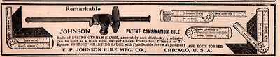1914  AD JOHNSON RULE MFG CO COMBINATION SPRING GERMAN SILVER MARKING GAUGE