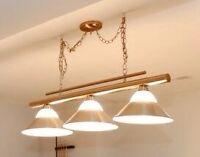 3-light Pool Table Light - Stainless Steel