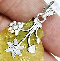 REWARD!! YELLOW & SILVER PENDANT, SILVER HEART & THIN GOLD CHA