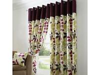 Fully lined eyelet 90x90 curtains from dunelm