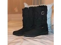 Ladies Black Damart Winter Boots size UK7/EU41