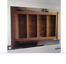 Solid oak display case/ book case