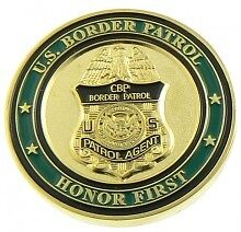 U.S. Border Patrol New Badge and Patch Challenge Coin