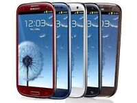 Samsung Galaxy S3 16GB unlocked Smartphone 8MP Camera with charger, Black/Blue/White, Brown SCH-I535