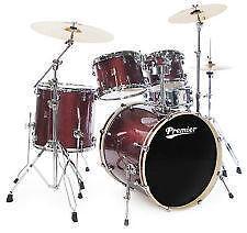 premier drum set ebay. Black Bedroom Furniture Sets. Home Design Ideas