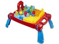 Mega bloks first builders build n learn table