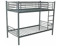 Brand New Metal Appollo Bunk bed in White/silver FREE delivery Very Sturdy