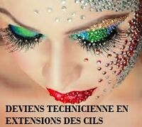 $$ DEVIENS TECHNICIENNE EN EXTENSIONS DES CILS**3 PLACES