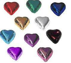 100 ASSORTED CHOCOLATE HEARTS - SPECIAL WEDDING OFFER