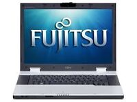 LAPTOP FUJITSU INTEL CORE 2, 2GHZ, 2GB RAM, 250GB HDD, WINDOWS 7 WITH CHARGER