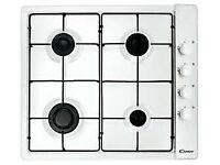 GAS HOB 60CM SIDE CONTROL IN WHITE, BRAND NEW NEVER USED