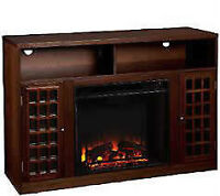 Brand New Mantel with AMAZING RADIANT FIREPLACE