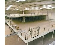 Mezzanine floors ,made to any shape, any size to suite your warehouse!!
