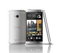 htc one m7 32gb unlocked color silver with box clean $250