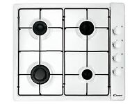 GAS HOB 60CM SIDE CONTROL IN WHITE BRAND NEW NEVER USED
