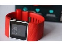 Fitbit Surge Fitness Super Watch - SMALL- Orange-red