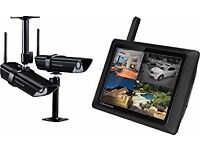 TECHNOMATE Wireless / internet CCTV Kit - 3 x cameras - touch screen monitor