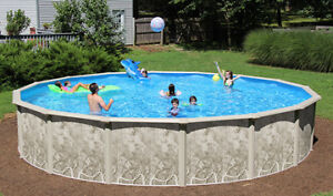 24' x 4' ABOVEGROUND POOL KIT - NEEDS LINER ONLY
