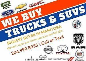 We Will Buy Your Vehicle! Receive cheque the same day!