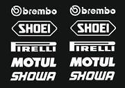 Sponsoren Aufkleber Motorrad
