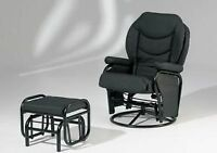 Black Swivel Recliner and Ottoman!!