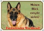 Warnschild Schäferhund