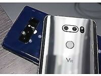 Brand new LG V30 silver boxed with a spigen case