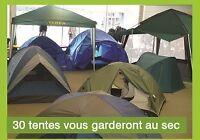 Incroyable choix de 30 Tentes Neuves pour le Camping en Soldes!!