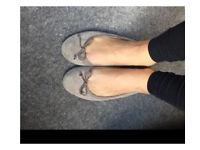 Well worn flat ballet pumps size 4
