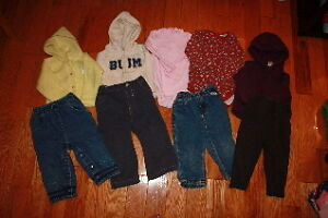 Large lot of girls size 18 months winter clothes