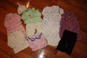 Lot of girls size 3-6 months winter clothes