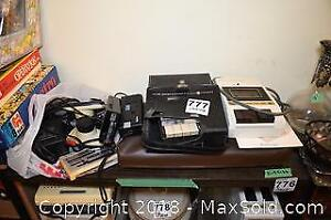 Commodore Vic 20 and GE Cassette Recorder A