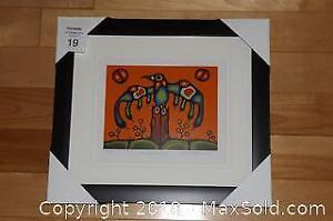 Native Ojibway Norval Morrisseau THUNDERBIRD SPIRIT newly framed with COA