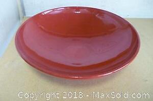 Mid-Century Red Glazed Ceramic Fruit Dish by Waechtersbach Germany - A
